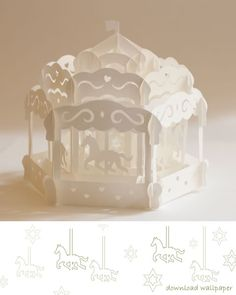 Carousel Pop Up Card. Origamic Architecture pop-up cards Special Occasions. http://www.amazingpopup.com/vol04page.htm