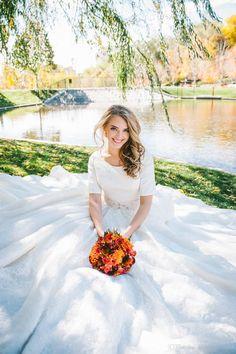 2016 Modest Wedding Dresses Full Lace Scoop Neck A Line Dress For Bride With Sleeves Beaded Belt Bridal Gowns Chapel Train Abiti Da Sposa Unique Wedding Dresses Wedding Dress Styles From Dressonline0603, $218.86  Dhgate.Com
