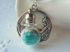 Mermaid Tears Necklace Mermaid Jewelry Glass Vial by AimeezArtz, $21.00