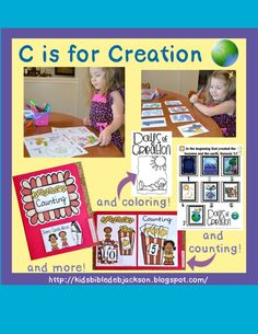 Preschool Alphabet: C is for Creation