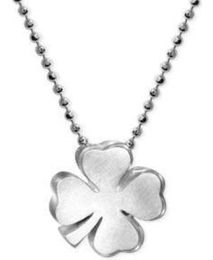 Alex Woo Women's Little Faith 925 Sterling Silver Crescent Moon Pendant Necklace of 40cm vLgvA