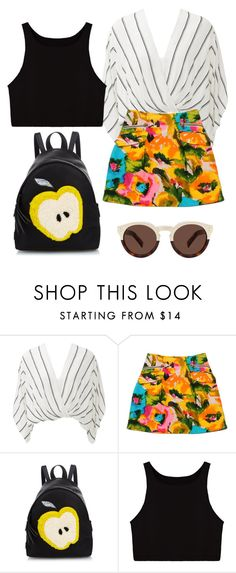 """Where to"" by keisha-kd ❤ liked on Polyvore featuring Free People, Nanette Lepore, Fendi and Illesteva"