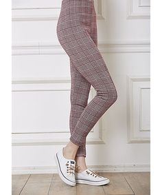 Red Glen Plaid Leggings