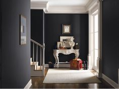 10 Ways to Achieve a Victorian Gothic-Inspired Home. Do you desire a home of opulent elegance? A Victorian Gothic interior design is one to consider. Grey Paint Colors, Interior Paint Colors, Interior Design, Gray Paint, Gray Color, Dark Colors, Dark Walls, Grey Walls, Dark Painted Walls