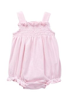 Splendid - Striped Smocked Bubble Bodysuit (Baby Girls) at Nordstrom Rack. Free Shipping on orders over $100.