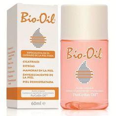 Aceite mineral Bio-Oil indicado para mejorar la apariencia de cicatrices, estrías y manchas en la piel