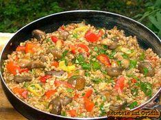 Vegetarian Recipes, Cooking Recipes, Romanian Food, Healthy Drinks, Fried Rice, Good Food, Snacks, Vegan, Dinner