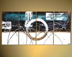 """Items similar to Large Modern Painting, Original Abstract Art on Canvas by Osnat - MADE-TO-ORDER - 72""""x36"""" on Etsy"""