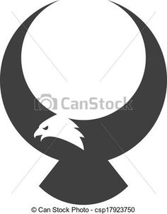 Vector - Stylized american eagle mascot - stock illustration, royalty free illustrations, stock clip art icon, stock clipart icons, logo, line art, EPS picture, pictures, graphic, graphics, drawing, drawings, vector image, artwork, EPS vector art