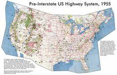 Pre-Interstate US Highway system 1955