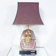 Eduardo Tasca Egyptian Pharoh Table Lamp