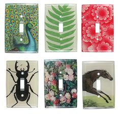 One of the finishing touches I love to place at client's homes....switch plate covers.  Here are light switch decoupage art by John Derian. Dreamy...