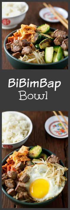 Bibimbap is a delicious Korean Dish full of vegetables, marinated meat, and…