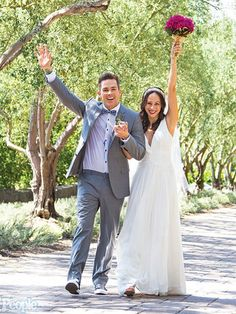 """Mark McGrath and Carin Kingsland tie the Knot: Wearing """"Kai"""" by Augusta Jones"""
