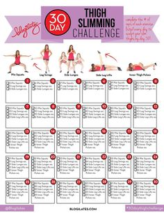 Blogilates 30 day thigh slimming challenge