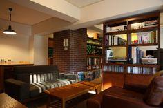 アメリカのホテルのような落ち着いた雰囲気の空間(森の見えるヴィンテージマンション) - リビングダイニング事例|SUVACO(スバコ)