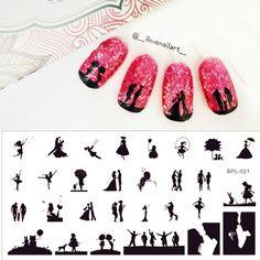 $2.99 Scetch Pattern Nail Art Stamp Template Image Plate BORN PRETTY BP-L021 12.5 x 6.5cm - BornPrettyStore.com