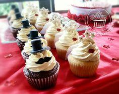 Bride & Groom, Wedding Cupcakes