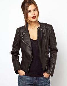 LEATHER BIKER JACKET | Luxury Women's leather | Karen Millen ...