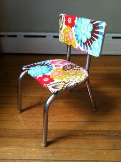 vintage kid's chair make over