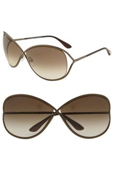 by far one of my fav sunglasses!!!! Tom Ford 'Miranda' Open Temple Metal Sunglasses available at Nordstrom