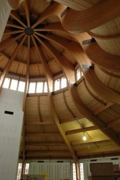 The Bethel Woods Museum before it construction was finished. I love the curves! By Unalam