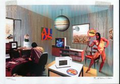 Just what is it that makes today's home so different?, by Richard Hamilton. British artist Richard Hamilton is known as one of the main innovators of early Pop Art. Collage Artwork, Collage Artists, Arte Pop, Richard Hamilton Artist, James Rosenquist, Art Terms, Claes Oldenburg, Photocollage, Jasper Johns