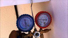 fazendo vacuo e liberando gás ar condicionado split forma correta
