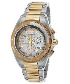 WANT!  Technomarine Womens TM 215031 Manta Neo Classic Quartz White Dial Watch