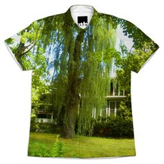 A Place Beyond in #Greenfield, #MA USA  #Shirtt created by Susan Elkin | Print All Over Me #printalloverme #trees #green