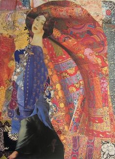 Kanchan Mahon is a self taught artist in the medium of handcut paper collage. Her art is quixotic, vibrant romantic and otherworldly. Soul Collage, Mixed Media Collage, Collage Art, Illustrations, Illustration Art, Mix Media, Collages, Oeuvre D'art, Figurative Art