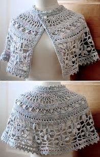 Afbeeldingsresultaten voor Free Crochet Capelet Patterns