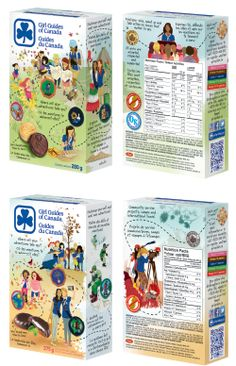 Girl Guide Cookie Box, Chocolatey Mint and Classic, 2014-2015
