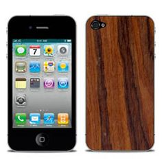 Bornéo Genuine Wood Skin Santos Rosewood For iPhone 4/4s by iChic Gear