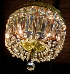 Victorian Crystal And Bronze Chandelier For Sale At Stdibs - Vintage chandelier crystals for sale