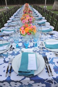 A colorful tablescape by Hillary Thomas