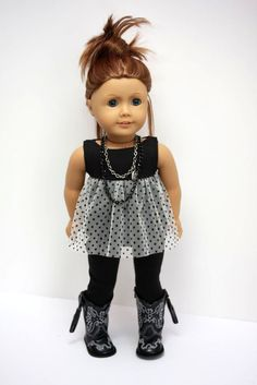 American Girl Doll ClothesKnit and Tulle Dress by sewurbandesigns