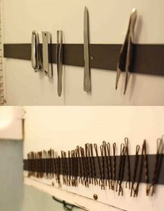 Great idea using a magnetic strip to organize small metallic things @istandarddesign
