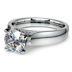 Refined beauty: The Cathedral Diamond ‪Solitaire Engagement Ring in ‪Platinum. This sleek, sturdy setting will ensure that your sparkling gift to your beloved will last a lifetime! http://www.brilliance.com/engagement-rings/cathedral-solitaire-ring-platinum-4mm