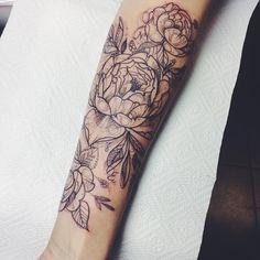 #lovelytattoo #pliszka #armtattoo #peonytattoo @9th_circle @voice_of_ink_tattoo #cracow #wroclaw dZiekuje !!!