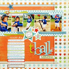 *t*ball highlights* Scrapbook & Cards Today Summer '11 - Scrapbook.com