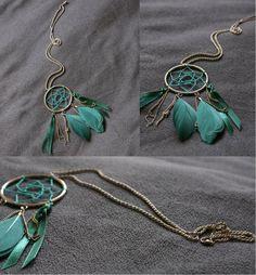 Long necklace - dream catcher