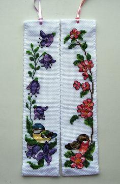 Permin Bird cross stitch bookmarks.