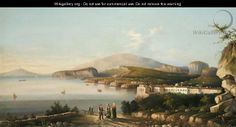 View Of Naples, With The Palazzo Di Capodimonte, The Bay Of Naples Beyond - Italian School