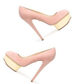 pink Charlotte Olympia heels