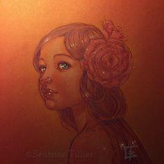 Little Nymph…⎪Petite Nymphe… colored pencil ⎪crayons de couleur (polychromos Faber-Castell) Crayons, Portrait, Tattoos, Art, Nymph, Color Pencil Picture, Art Background, Tatuajes, Headshot Photography