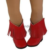 Red Tassel Boots Shoes for 18
