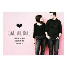 Simple Photo Save the Date Custom Announcements