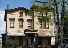 This free standing brick mansion in Bedford-Stuyvesant, Brooklyn was built in 1863 for William A Parker a hops and malt merchant. The building has been occupied since 1945 by The United Order of Tents, one of the oldest lodges for African-American women in the country.