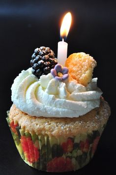 Cupcake and Candle
